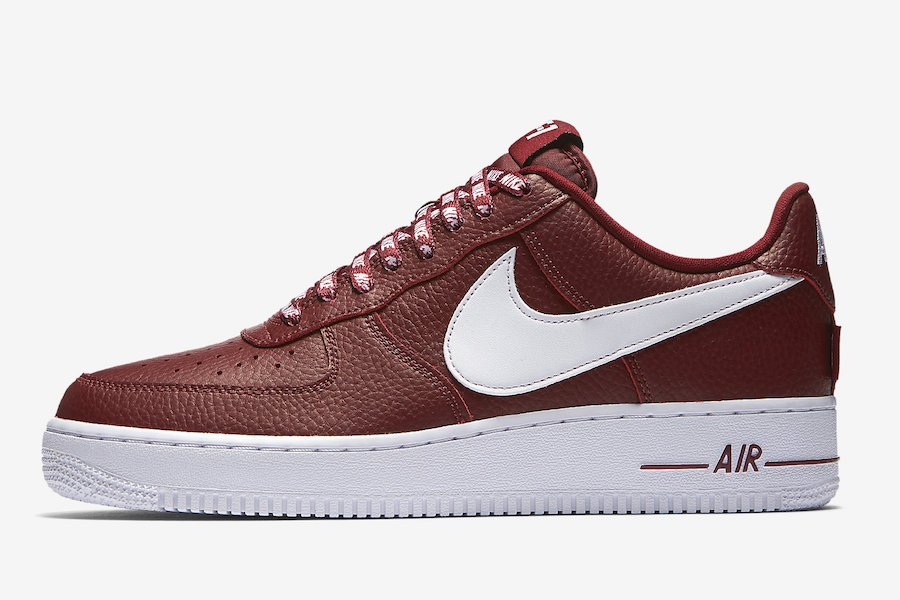 Nike Air Force 1 Low Statement Game Burgundy White 823511-605