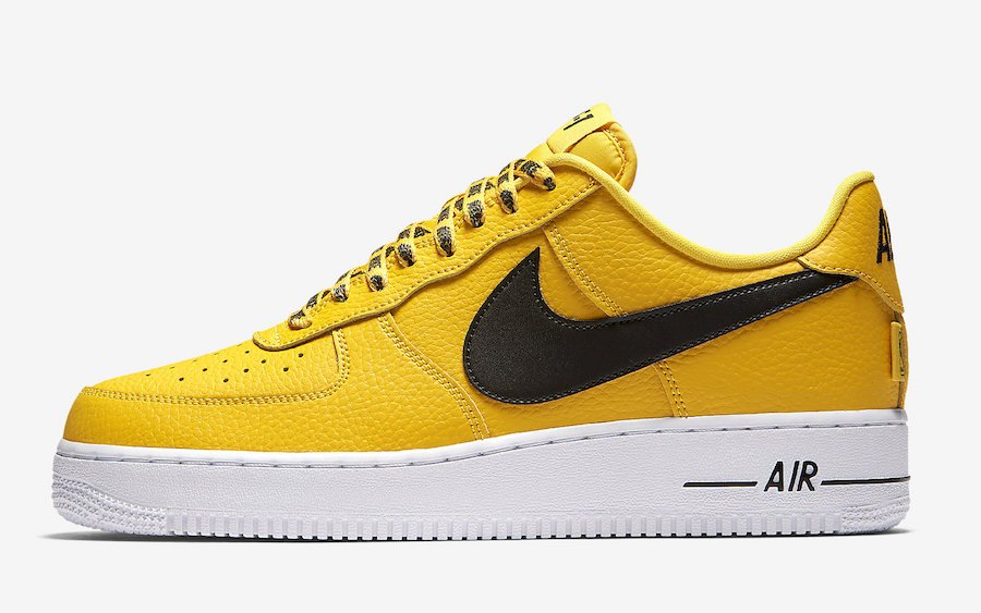 all yellow nike air force 1