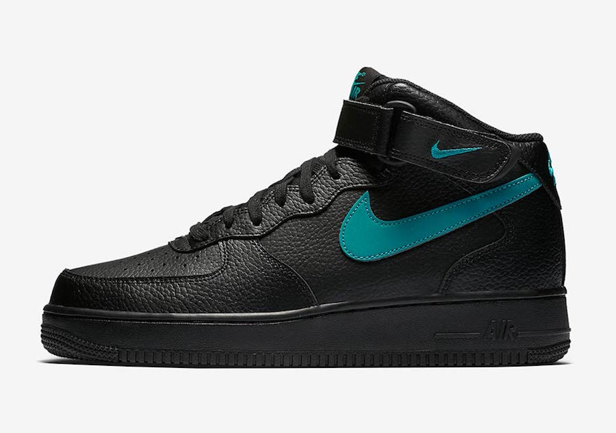 Nike Air Force 1 Mid Black Neptune Green 315123-045