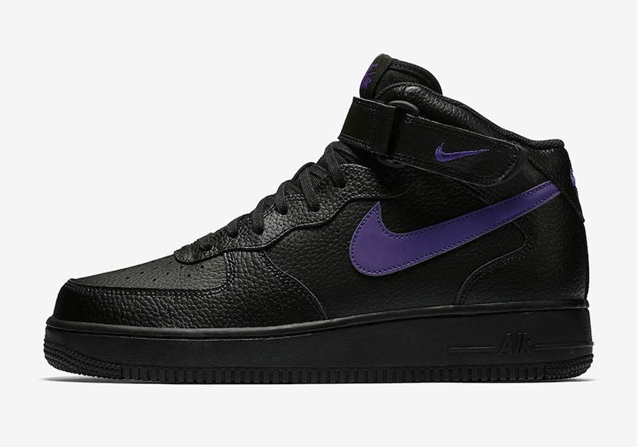 Nike Air Force 1 Mid Black Purple 315123-044