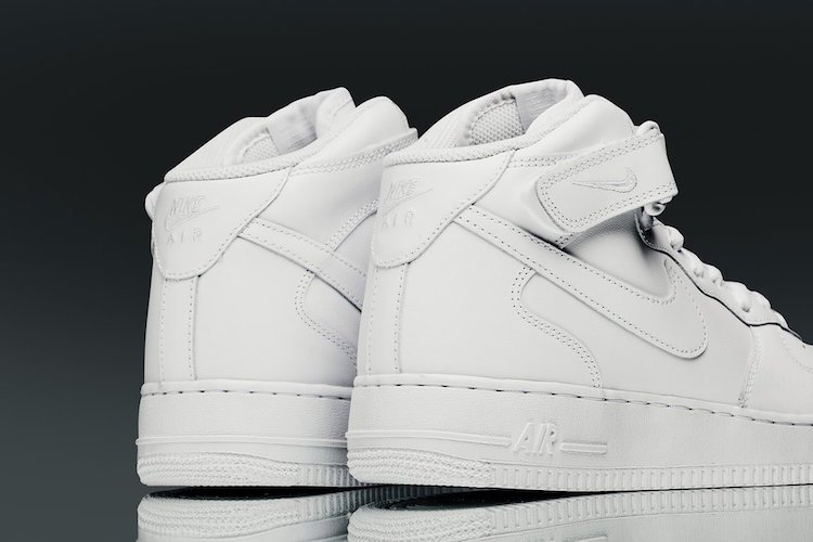 Nike Air Force 1 Mid Triple White