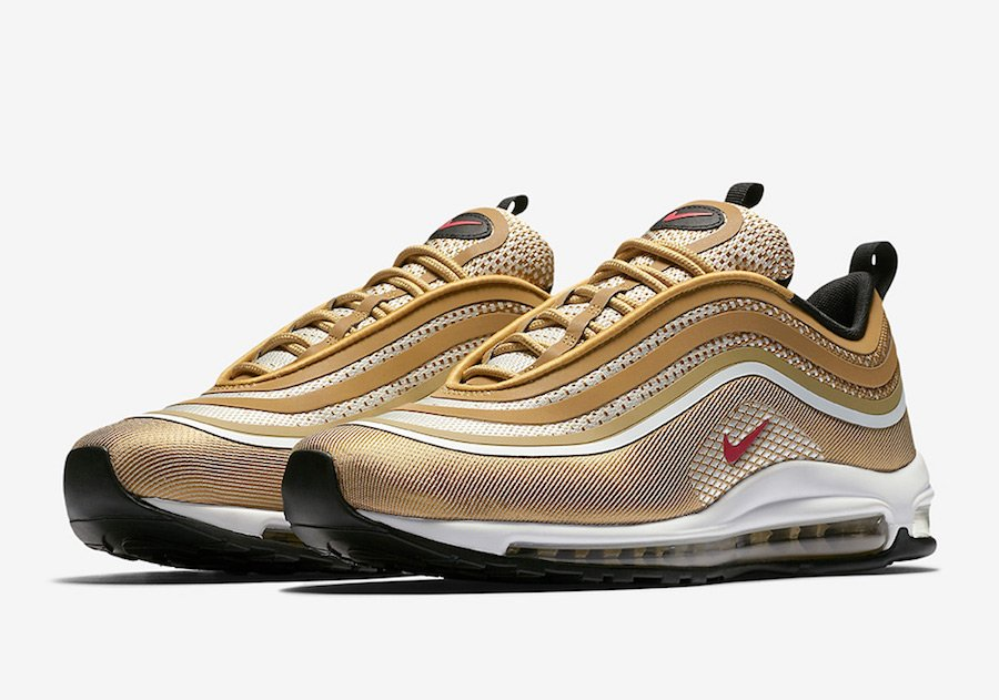 pretty nice f9650 d7fa6 Nike Air Max 97 Ultra OG Metallic Gold Release Date