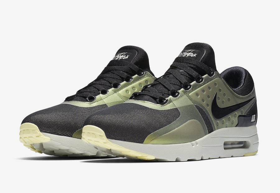 nike air max zero black black light bone