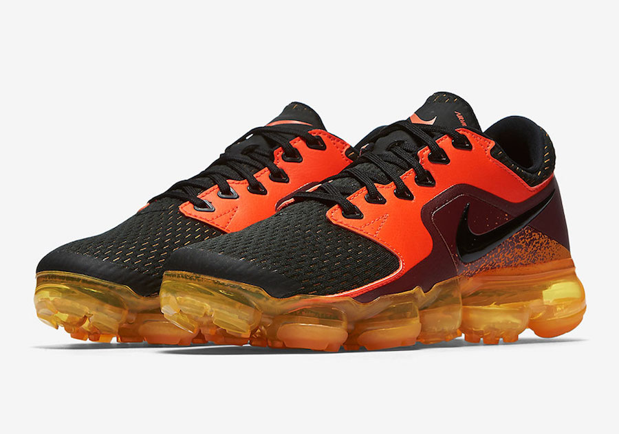 052511069002 Nike Air VaporMax CS Black Orange Red 917963-800
