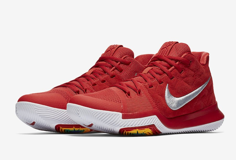 4ec8adc1be6e93 Nike Kyrie 3 University Red Suede Release Date
