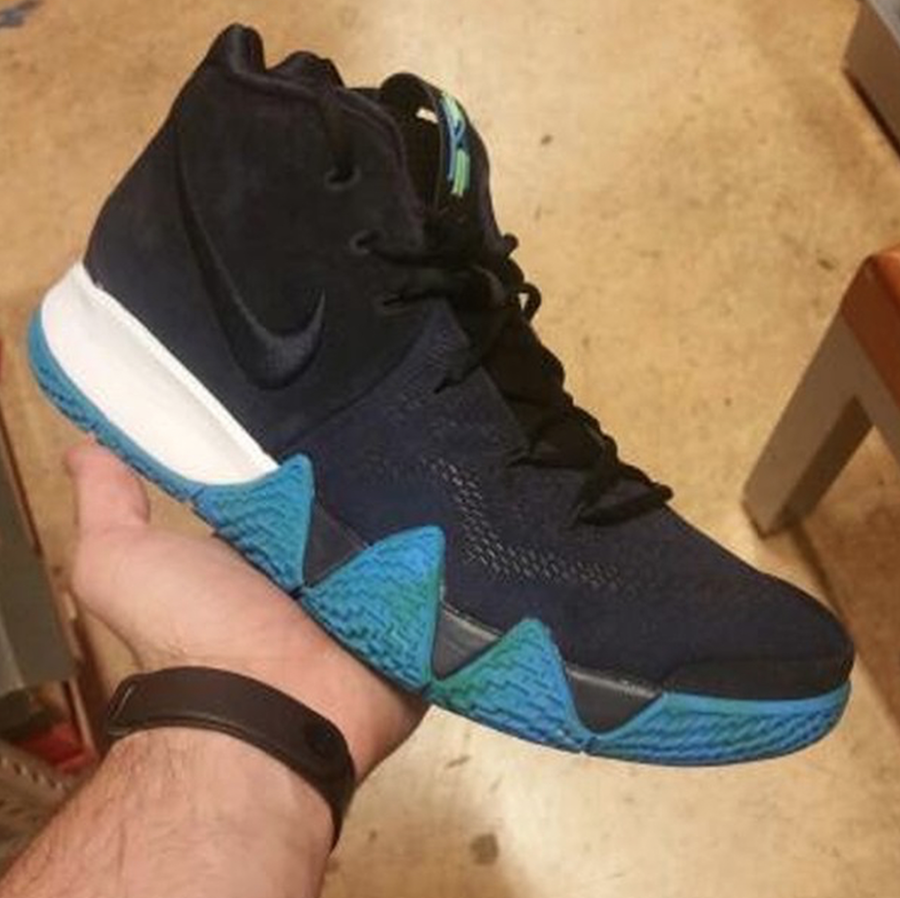 Nike Kyrie 4 Black White Anthracite Light Racer Blue Release Date