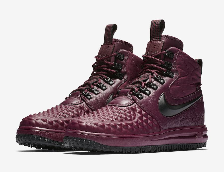 Nike Lunar Force 1 Duckboot Burgundy 916682 601 Sneakerfiles