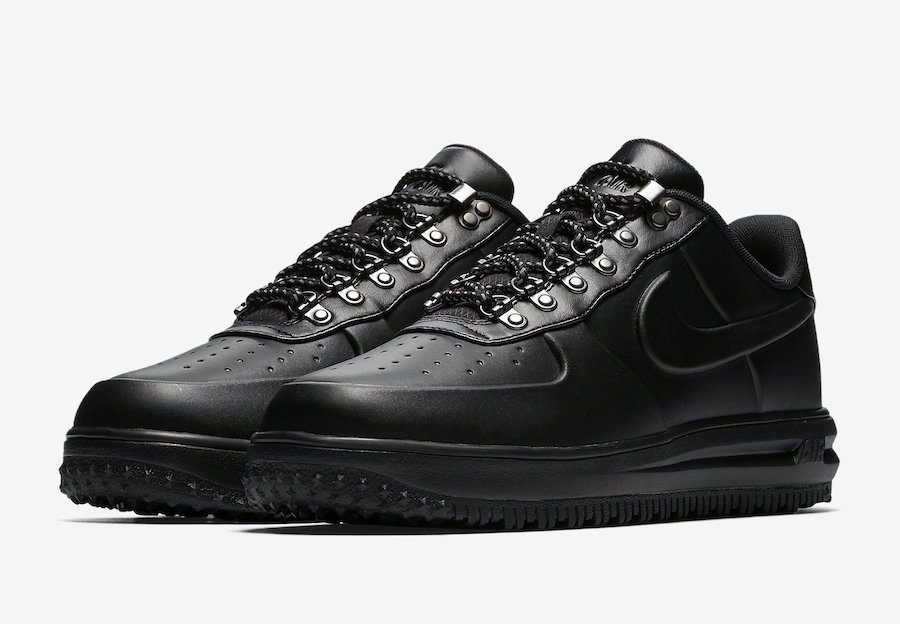Nike Lunar Force 1 Duckboot Low Triple Black Release Date