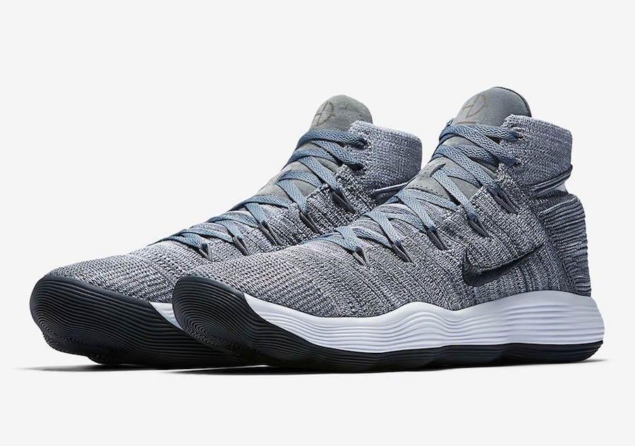 9462737f7b3f1 Nike React Hyperdunk 2017 Flyknit Cool Grey Release Date