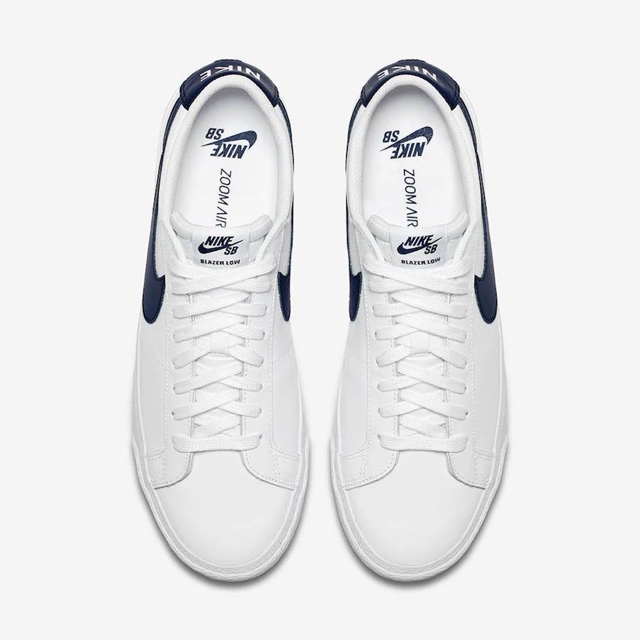 Nike SB Blazer Low White Obsidian