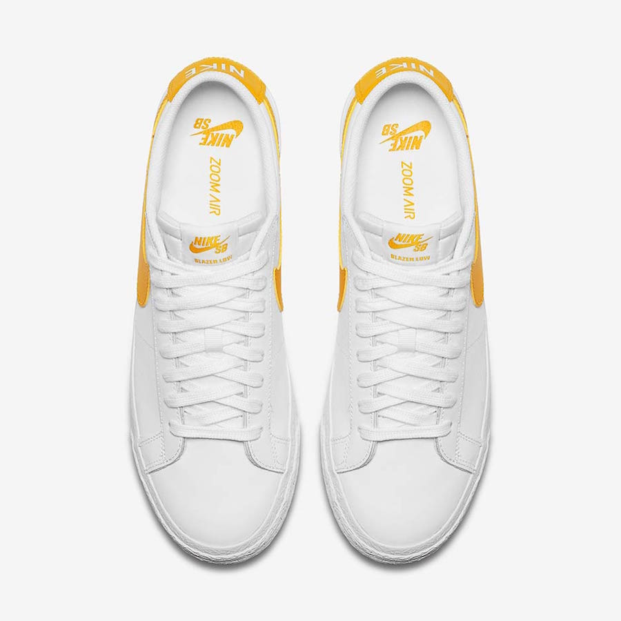 Nike SB Blazer Low White Yellow