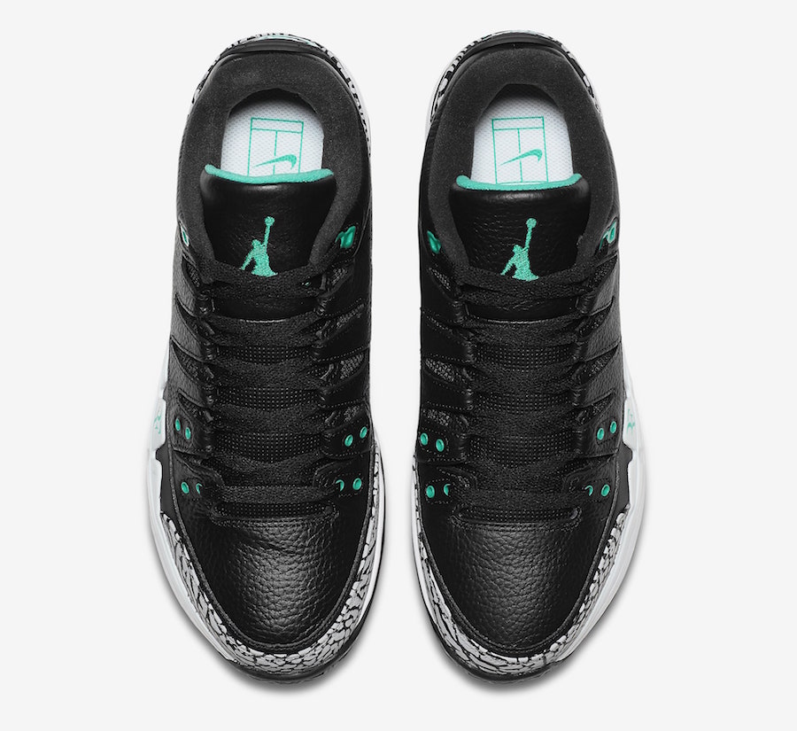 Nike Zoom Vapor Tour AJ3 Clear Jade Release Date