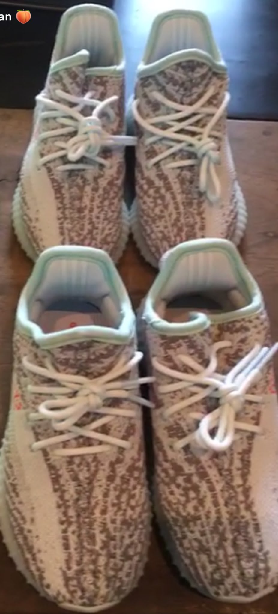 North Saint West adidas Yeezy Boost 350 V2 Semi Frozen Yellow Blue Tint