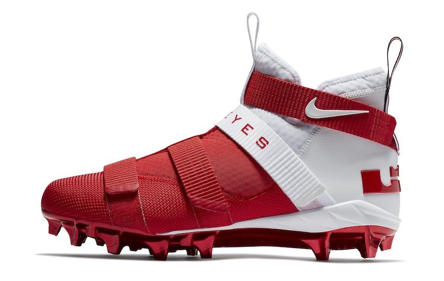 Ohio State Nike LeBron Soldier 11 Cleats