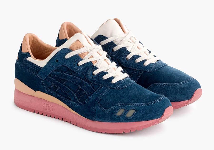 Packer Shoes JCrew Asics Gel Lyte III Navy