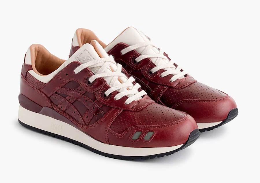 Packer Shoes JCrew Asics Gel Lyte III Red