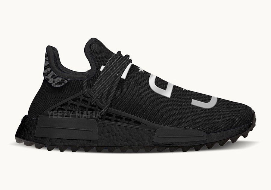Want Discount UA NMD Human Race Aqua Black White Come Here
