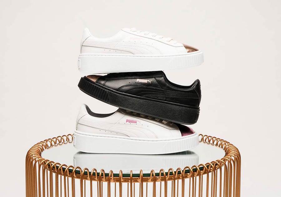 Puma Basket Platform Metallic Toe Pack