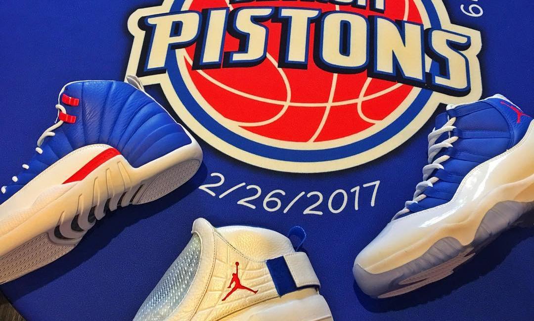Rip Hamilton Air Jordan 11 12 19 Detroit Pistons PE