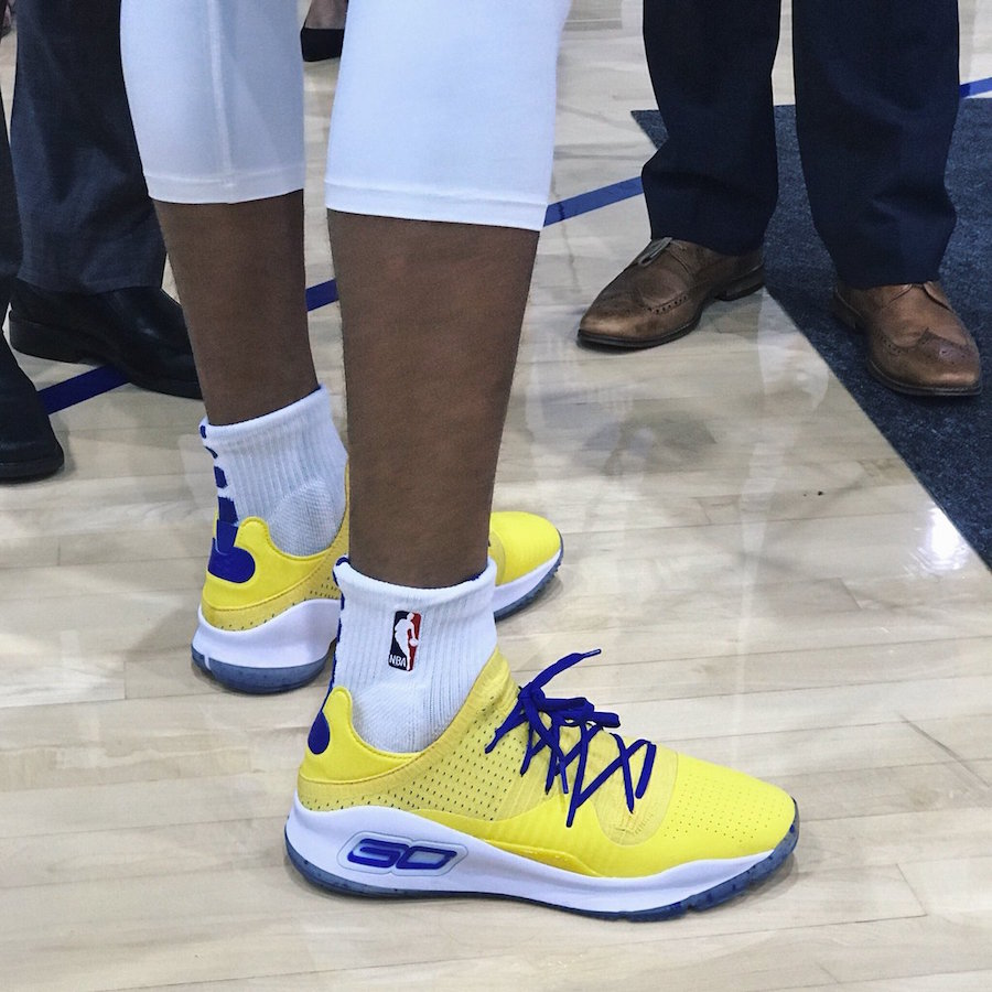 Steph Curry Warriors Under Armour Curry 4 Low