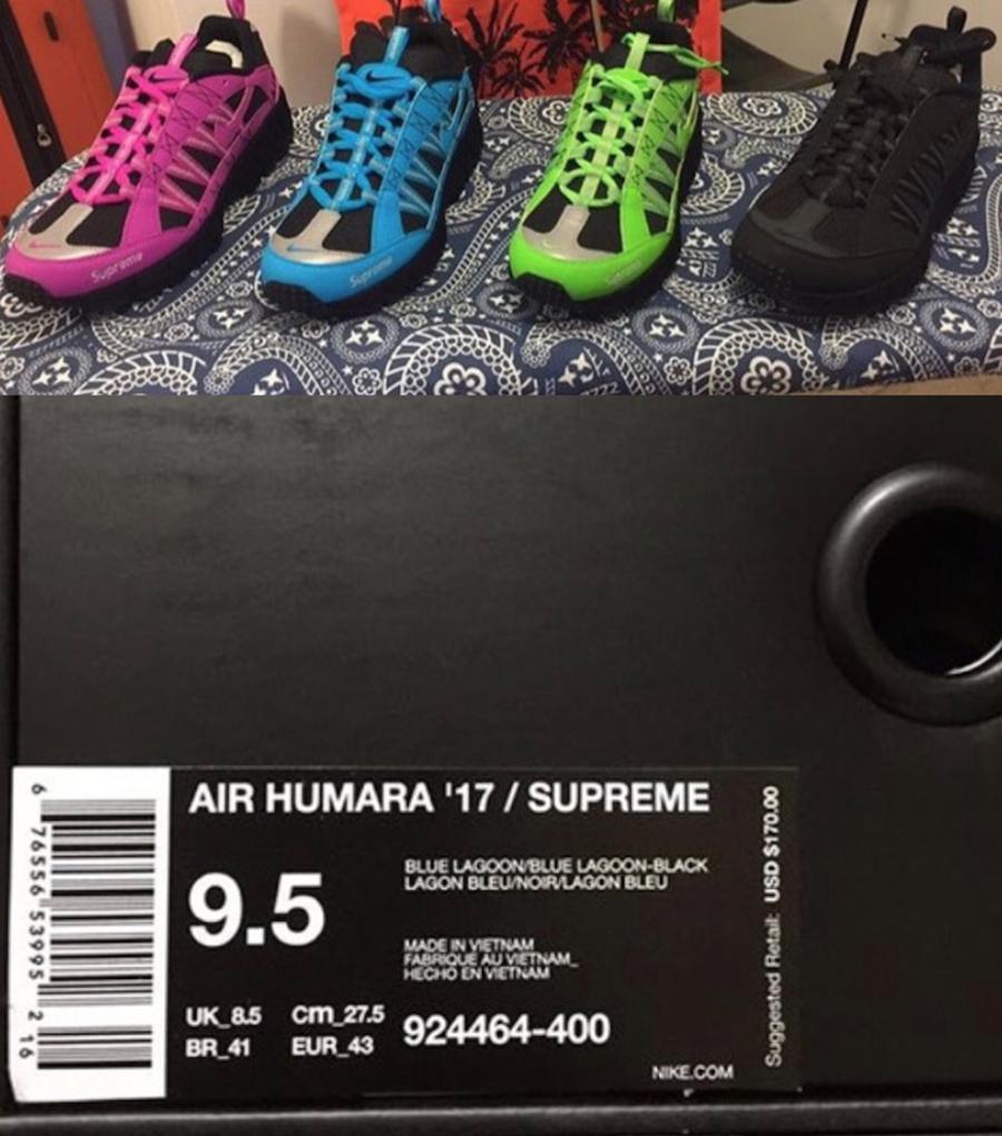Supreme Nike Air Humara Release Date