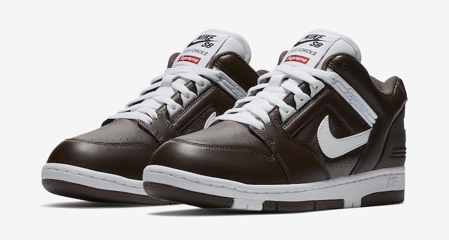 Supreme Nike SB Air Force 2 AA0871-212 Brown