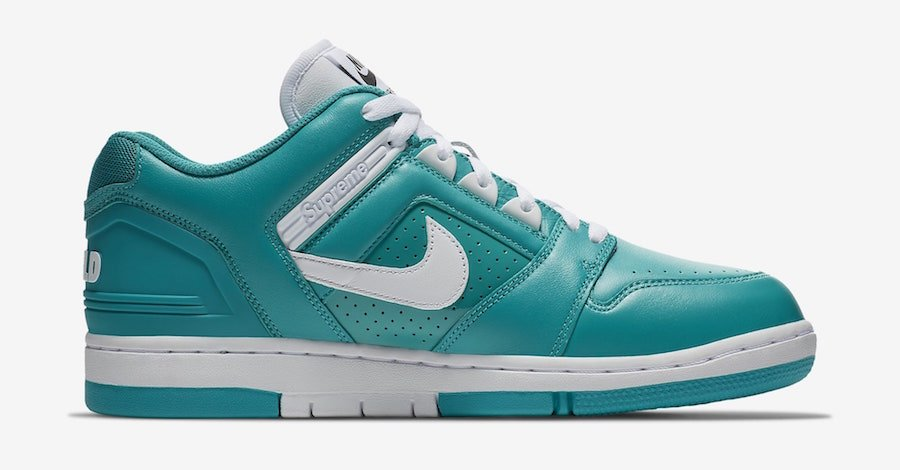 4e2617cd0ff7 ... Supreme Nike SB Air Force 2 AA0871-313 Teal ...