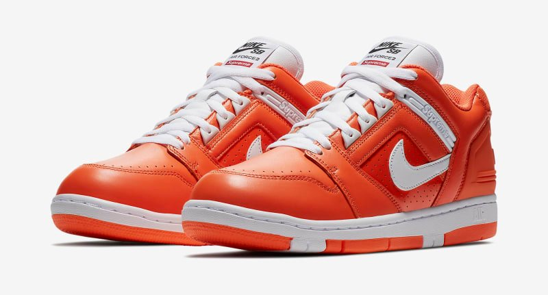 Supreme Nike SB Air Force 2 AA0871-818 Orange