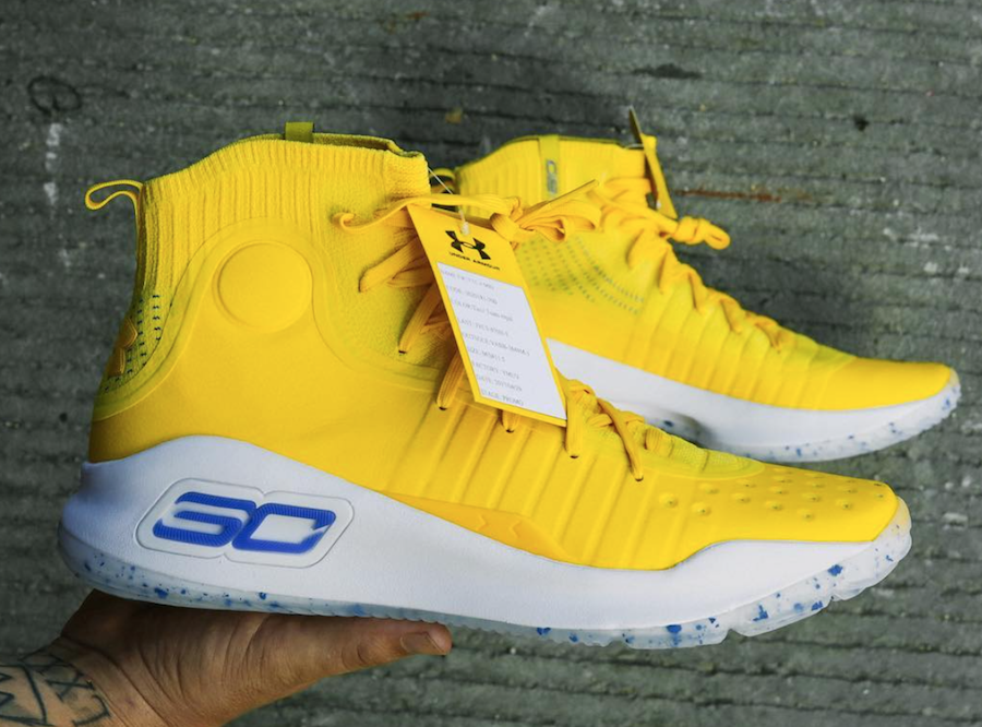 Under Armour Curry 4 Warriors Yellow