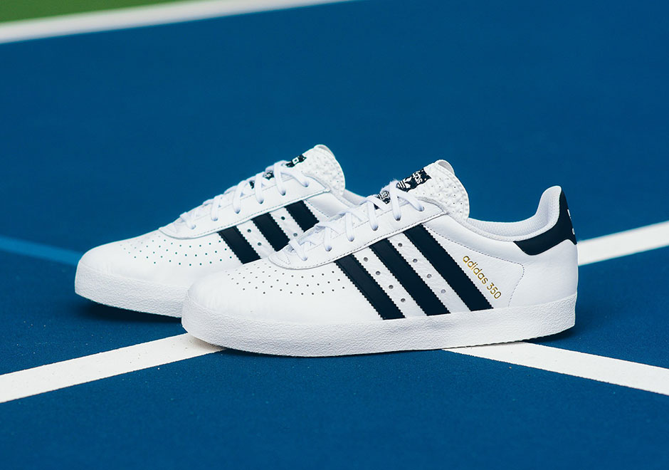 adidas 350 White Black Gold
