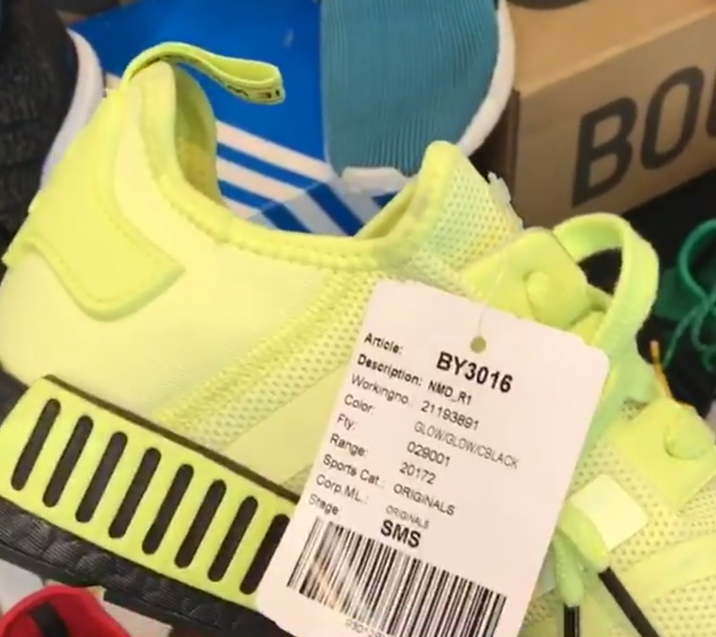 adidas NMD R1 Glow Volt Black Sample