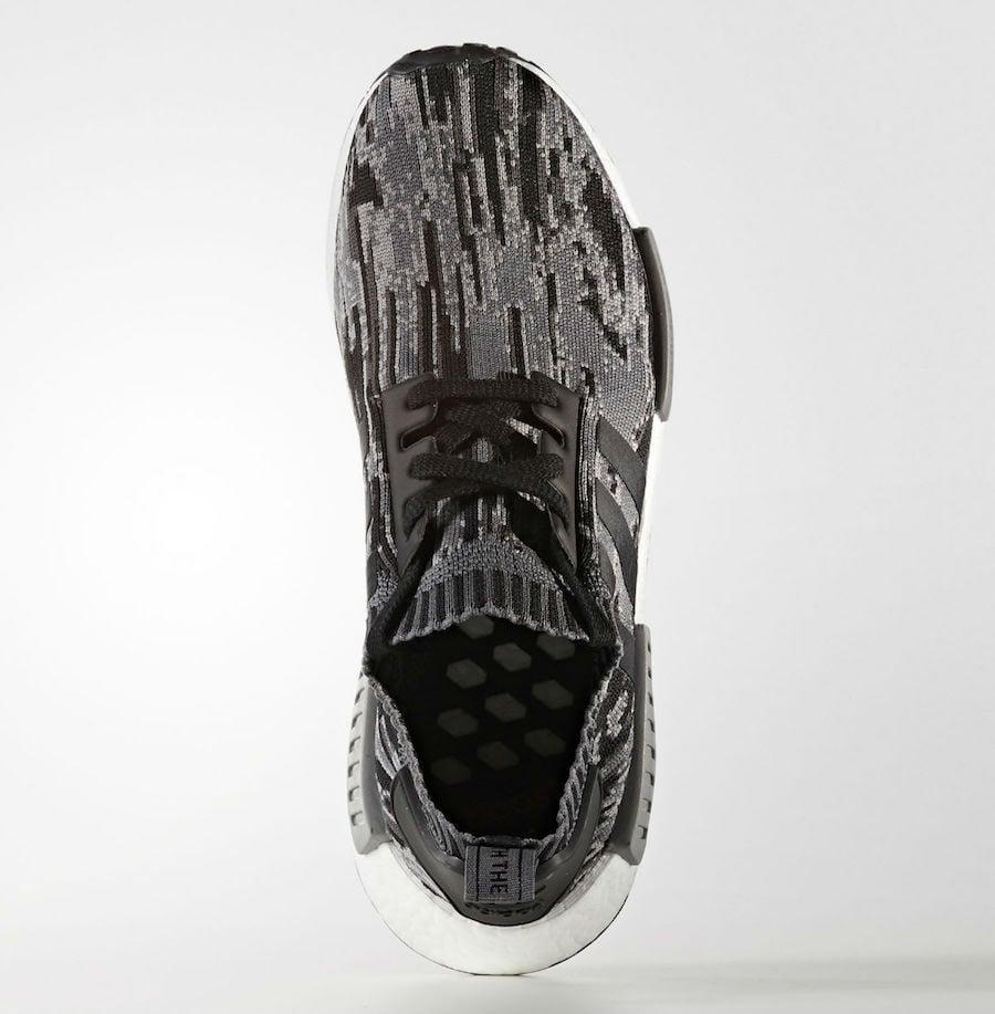 320024c0c31a adidas NMD R1 Primeknit Glitch Camo Black Grey Release Date