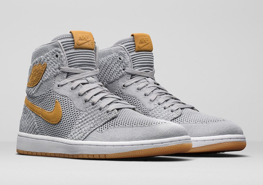 Air Jordan 1 Flyknit Wolf Grey 919704-025