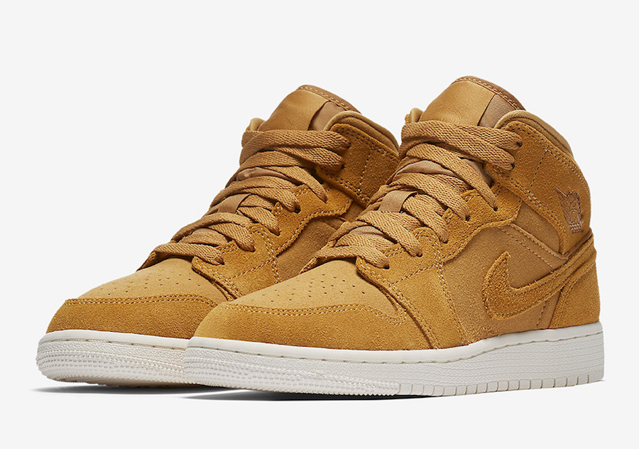 Air Jordan 1 Mid Wheat Golden Harvest