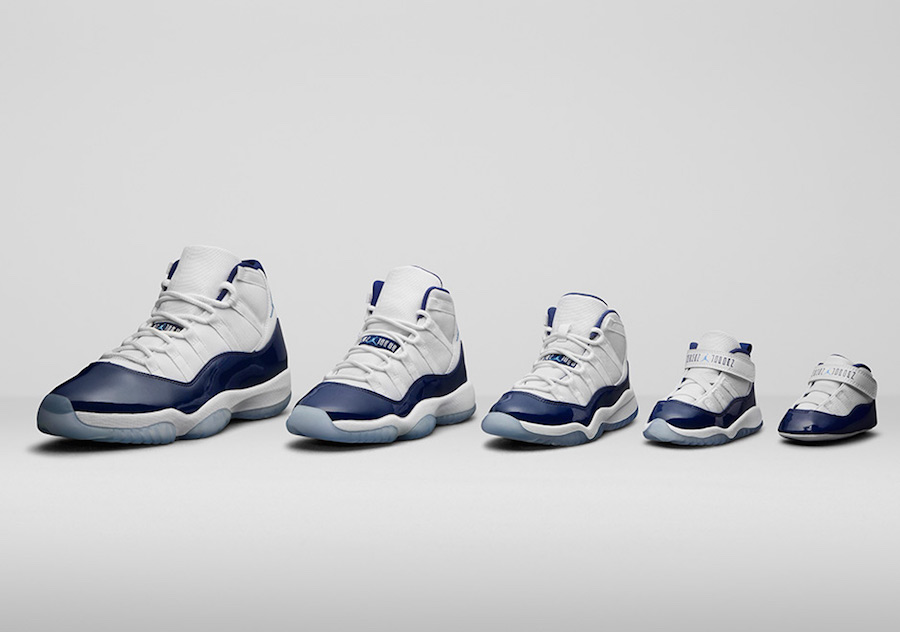 Air Jordan 11 Win Like 82 Family Sizing