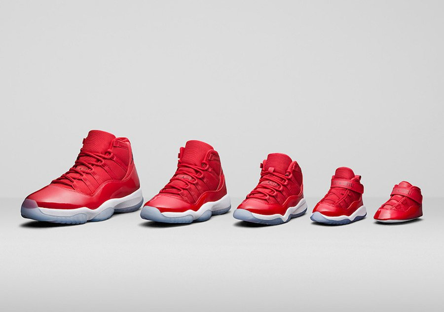 Air Jordan 11 Win Like 96 Family Sizing