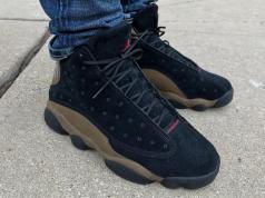 Air Jordan 13 Olive On Feet
