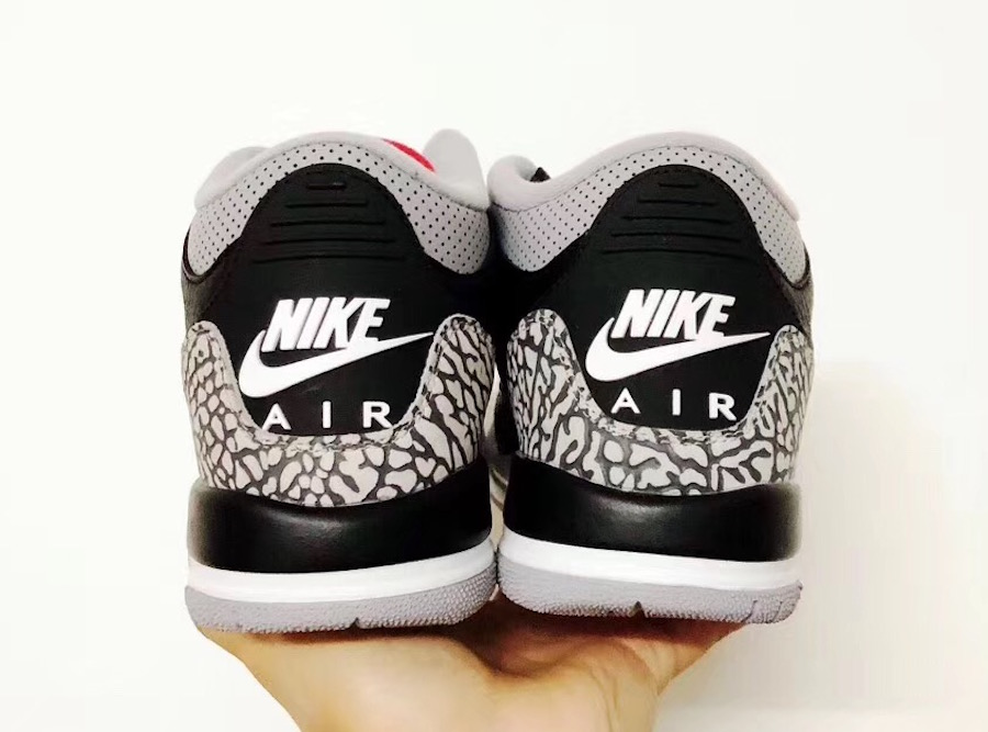 Air Jordan 3 Black Cement Grade School