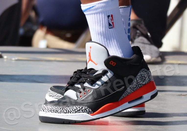Air Jordan 3 Westbrook PE Black Orange