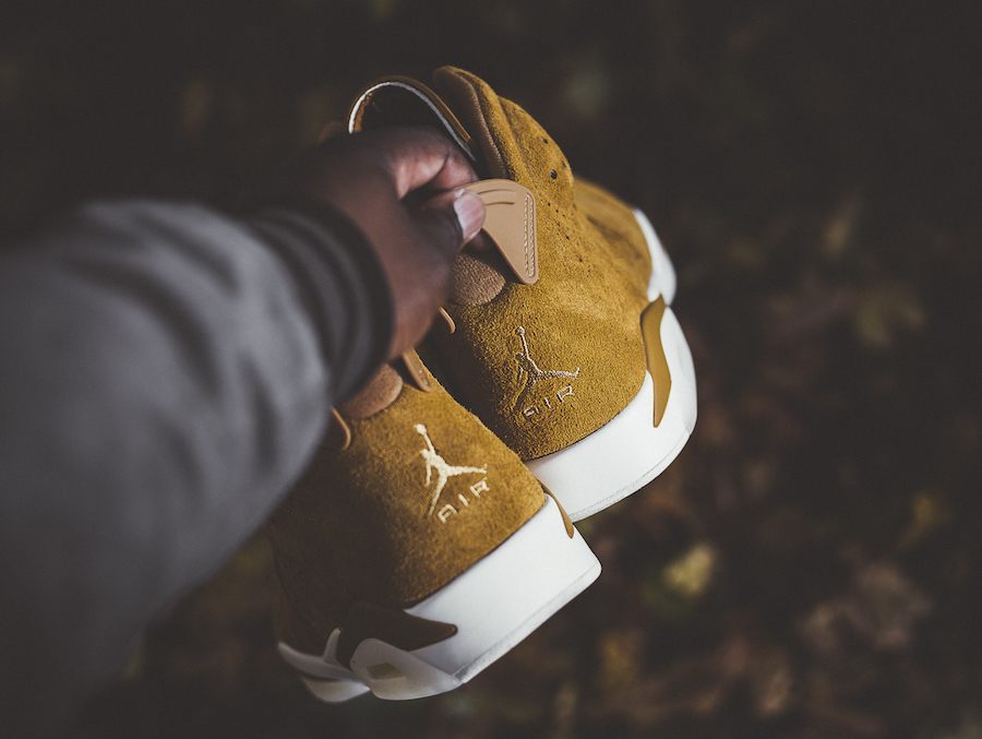 Air Jordan 6 Wheat On Feet