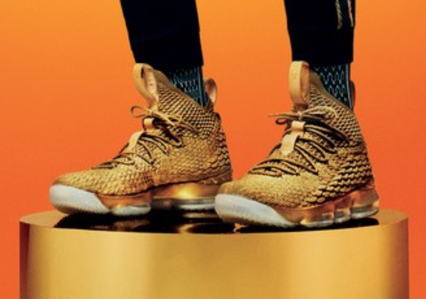 2e2946793c2 lebron james on gq cover in gold nike lebron 15