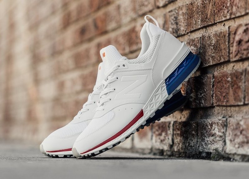New Balance 574 Sport USA White Blue Red