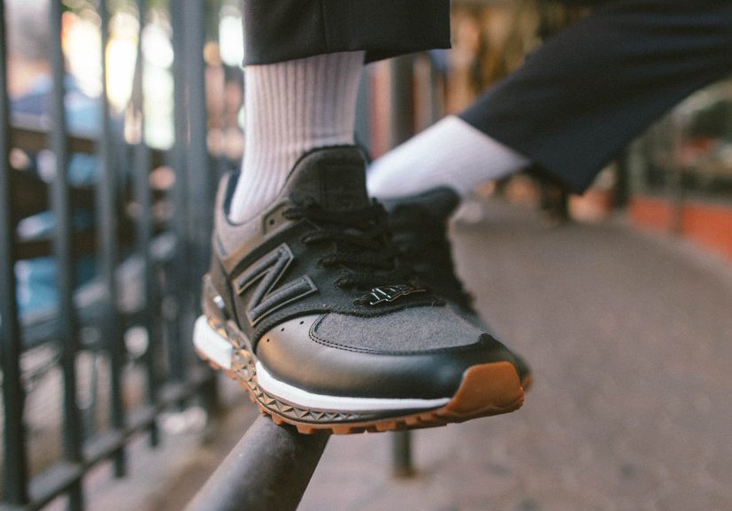 New Era New Balance 574 Sport Black Wool