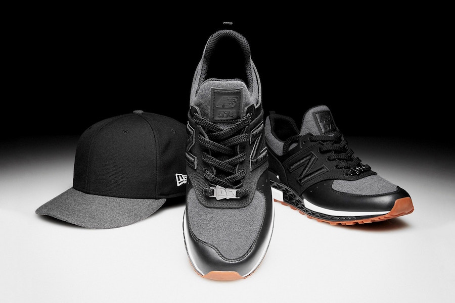timeless design b2b30 431d4 New Era x New Balance 574 Sport Black Wool | SneakerFiles