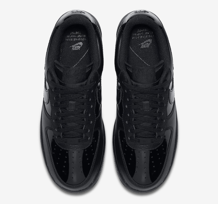 Nike Air Force 1 Low Black Patent Leather AH0287-001