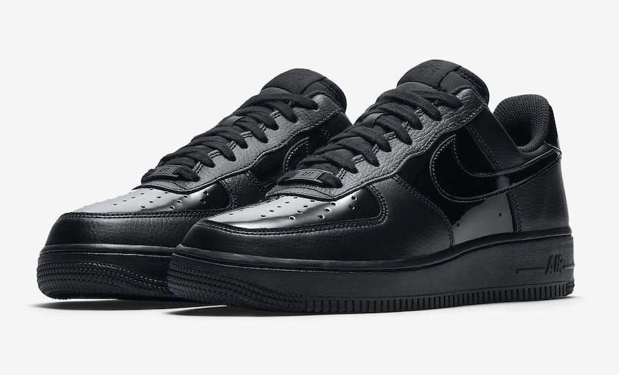 nike air force 1 low patent black leather