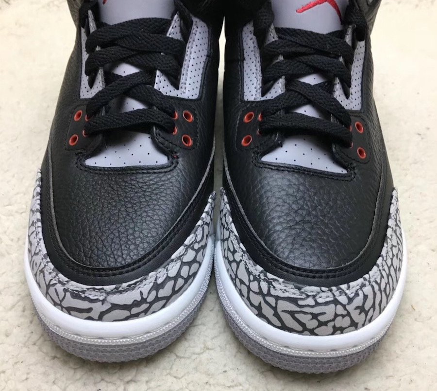 Nike Air Jordan 3 OG GS Black Cement 854261-001