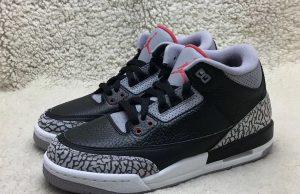 Nike Air Jordan 3 OG GS Black Cement 854261-001