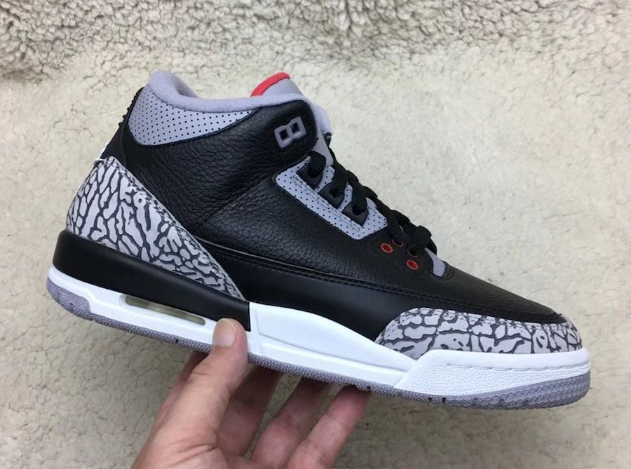 7123b5b4b20 Air Jordan 3 OG Black Cement 2018 Release Date | SneakerFiles