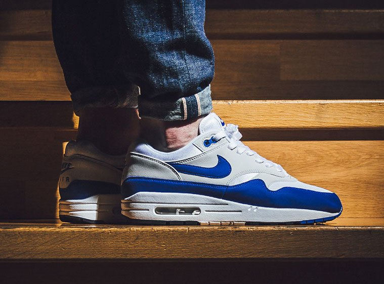cheap for discount 7adf0 4cd02 Nike Air Max 1 Anniversary Royal On Feet